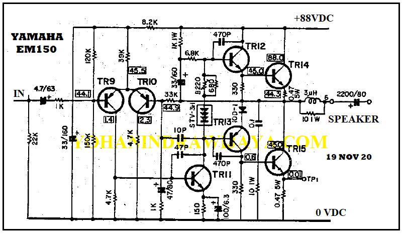 power amp yamaha EM150