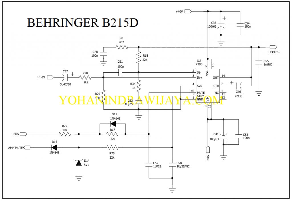 POWER HI FREK BEHRINGER B215D