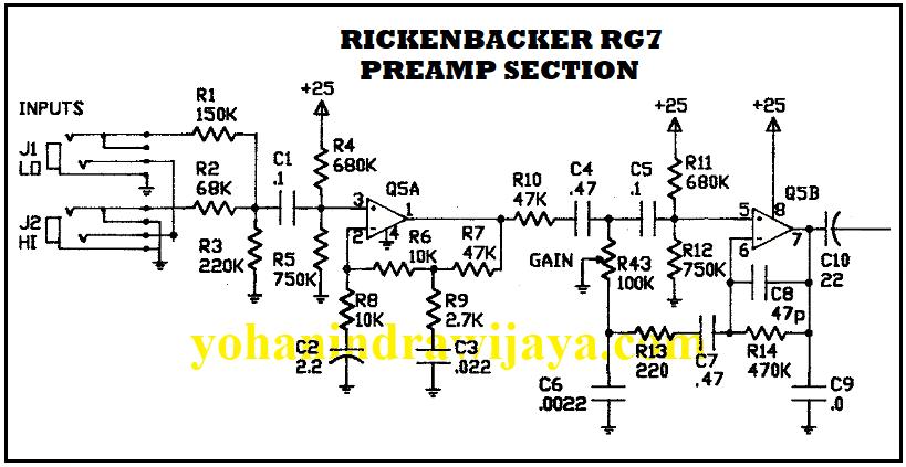preamp rickenbacker rg7