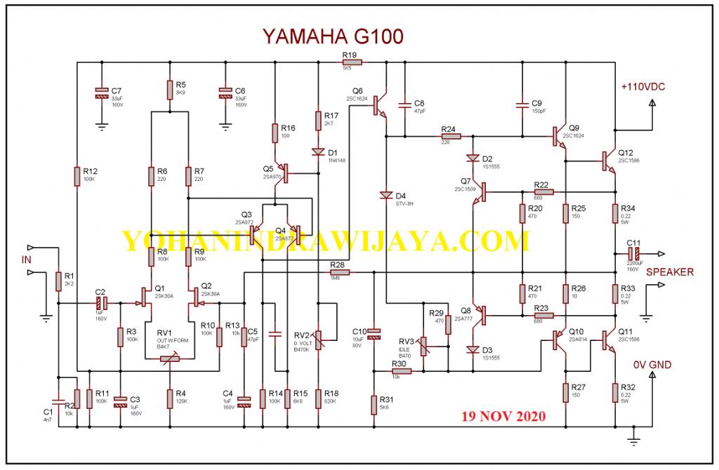 POWER GITAR YAMAHA G100 212II