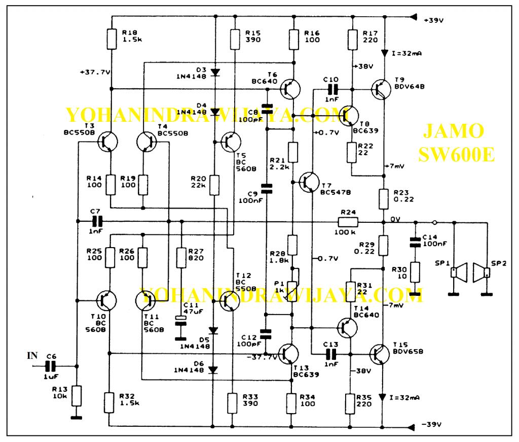 power JAMO SW600E